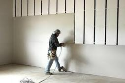 Picture of drywall hanging in a Commercial project in Peoria, Illinois